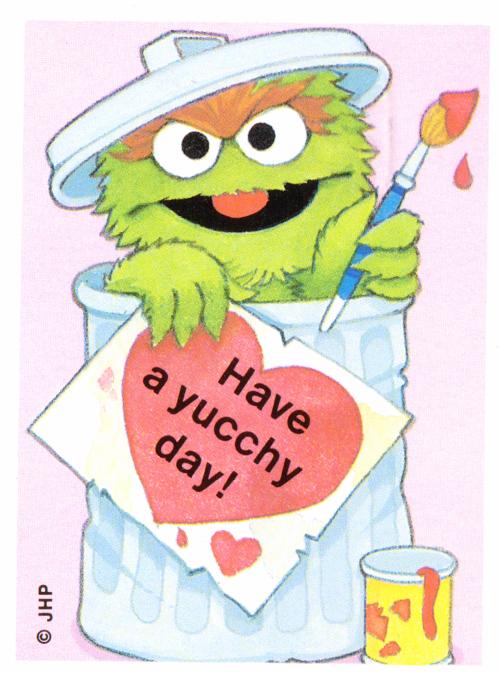 Oscar the grouch valentine