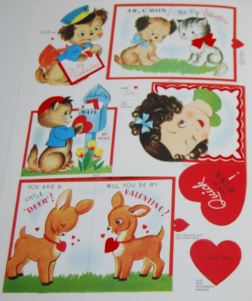 Vintage flocked valentines book 2006 4