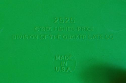 Fisher price playground underside