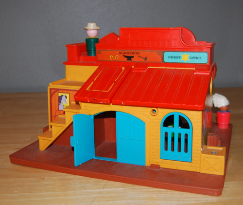 Fisher price western town back