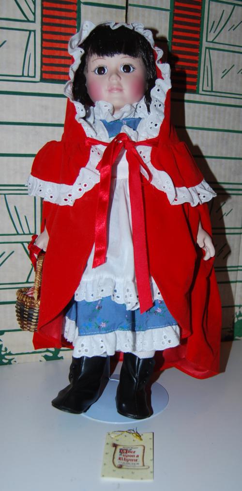 Little red riding hood porcelain doll