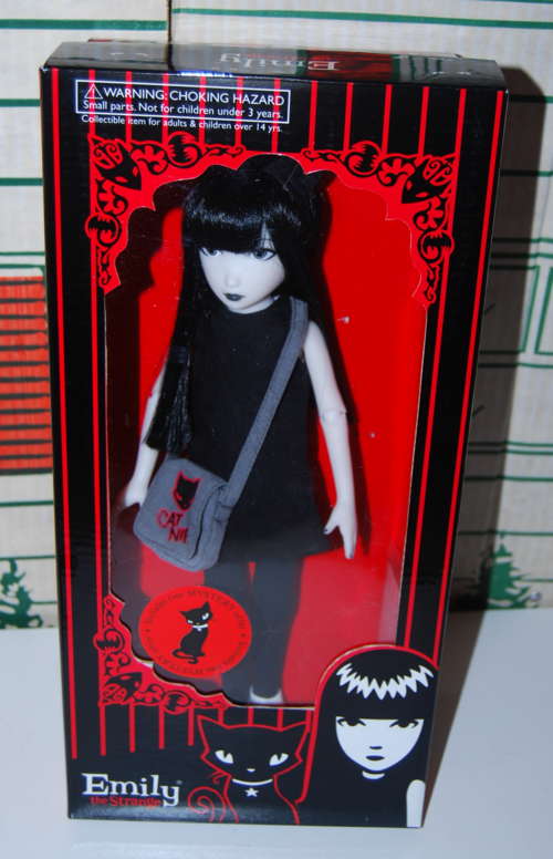 Emily doll in box