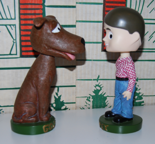 Davey & goliath bobble heads 3