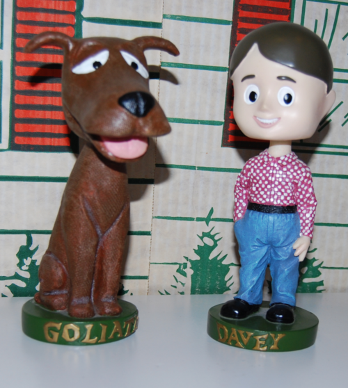 Davey & goliath bobble heads 2