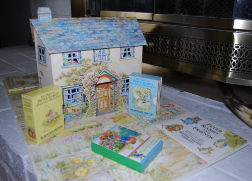 Beatrix potter pop up house book