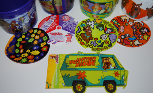 Scooby doo mcd pails stickers