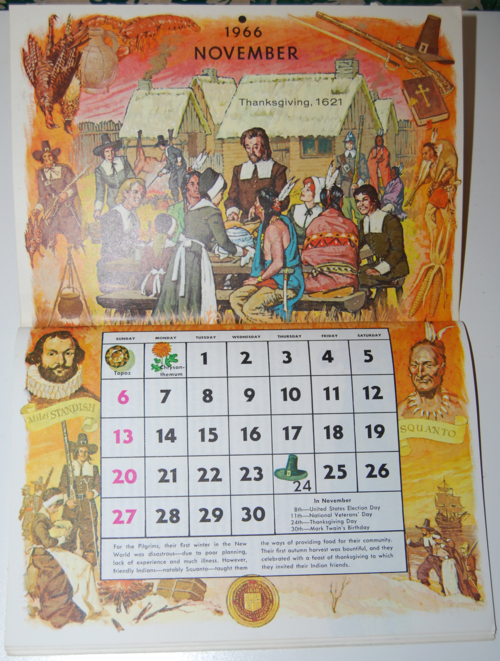 Golden magazine november 1966 calendar
