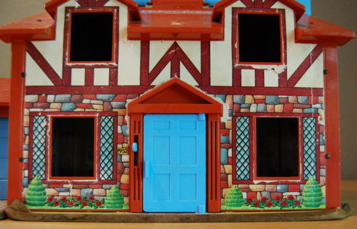 Fisher price brown house front