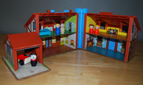 Fisher price brown house