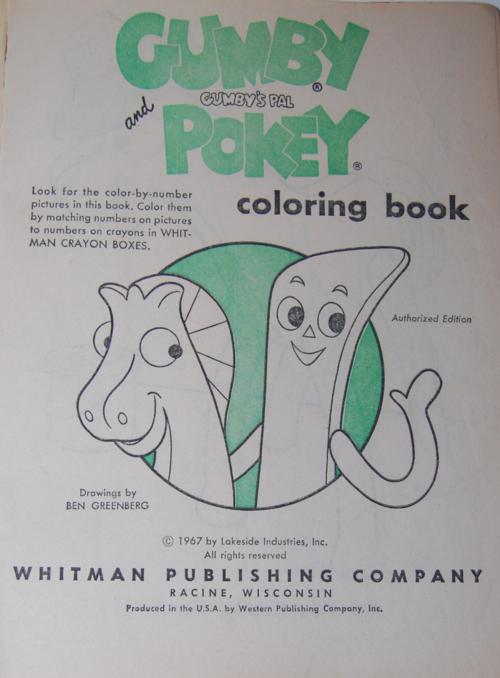 Gumby coloring book 2