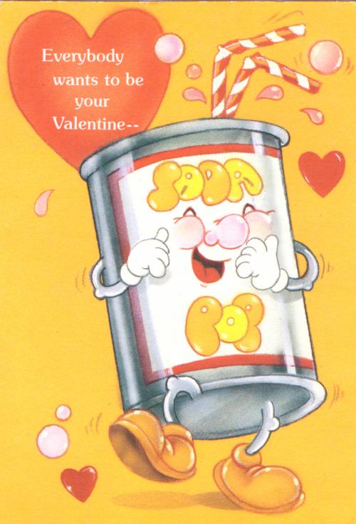 Vintage valentine soda