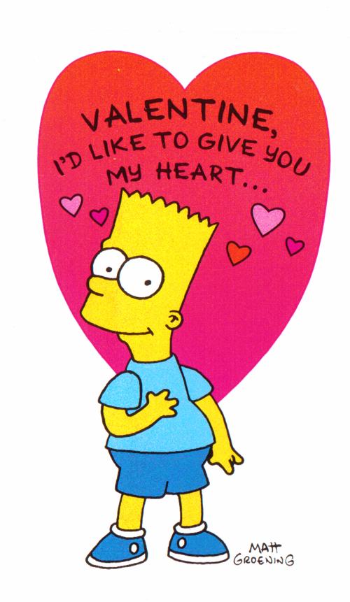 Simpsons valentine bart