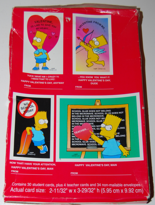 Simpsons valentines box