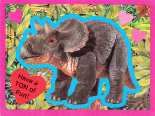 Jurassic park valentine 1992