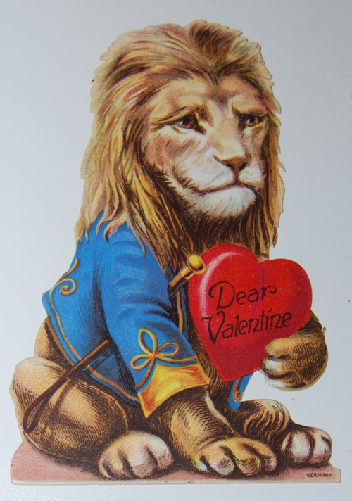Vintage german lion valentine