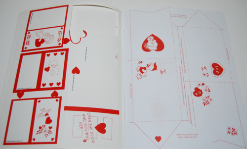 Vintage flocked valentines book 2006 envelopes