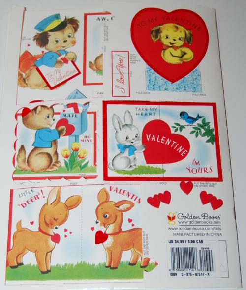 Vintage flocked valentines golden book