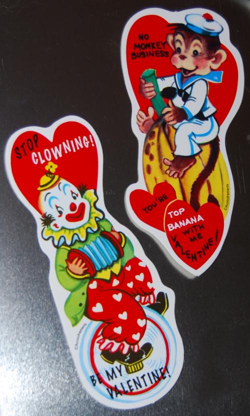 Retro valentine stickers