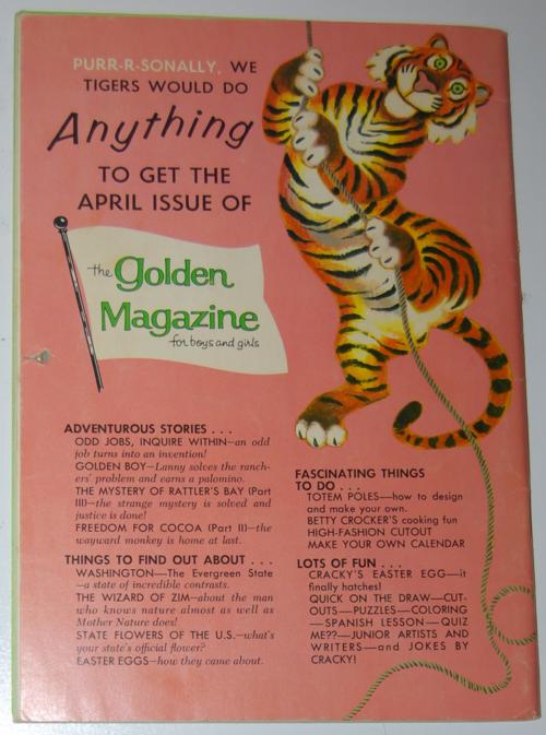 Golden magazine march 1965 back