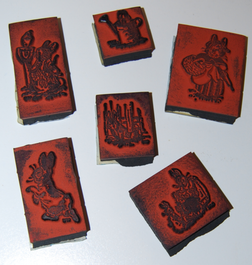 Peter rabbit rubber stamps 2