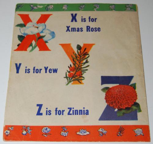 Alphabet book of flowers 3