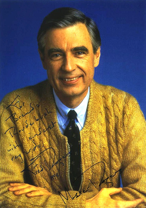 Mr rogers signed photo