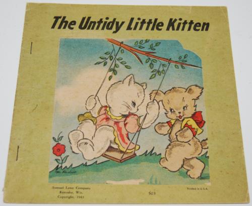 Untidy little kitten