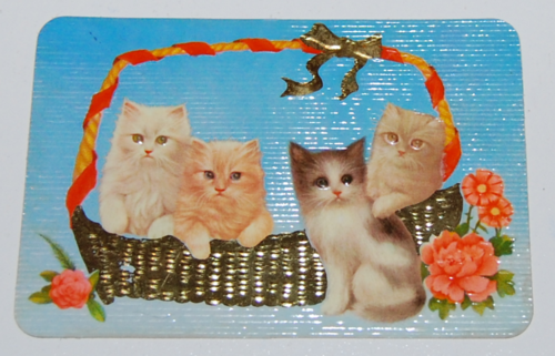 1978 calendar card kittens