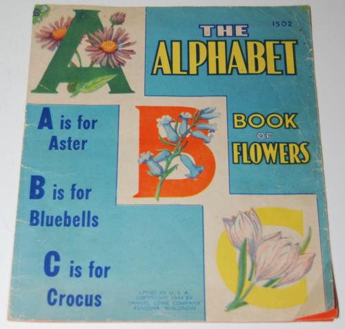 Alphabet book of flowers