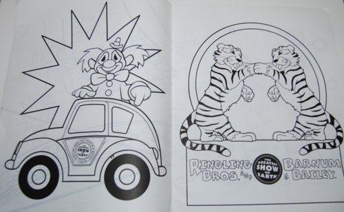 Ringling bros circus coloring book 5