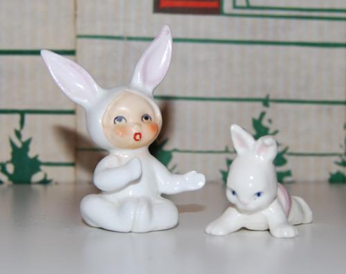 Ceramic bunny babies 1