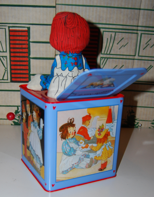 Schylling tin musical raggedy ann in the box 5