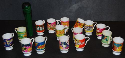 Vintage super hero cups quarter machine trinkets
