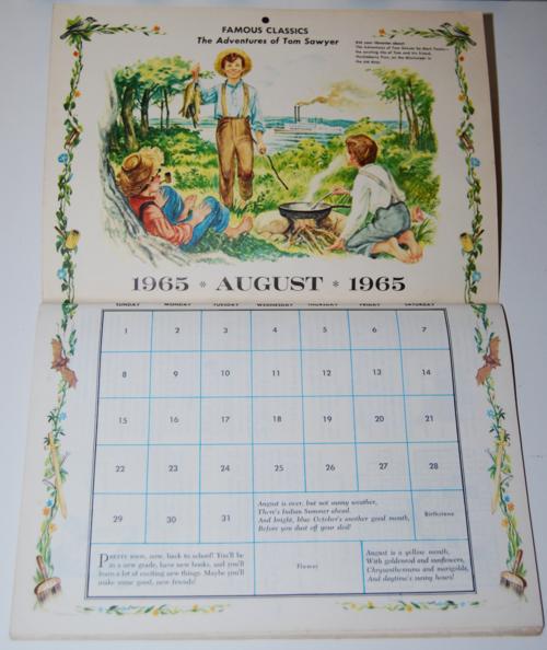 Golden magazine august 1965 calendar