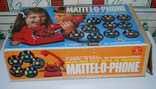 Mattel o phone box 1965