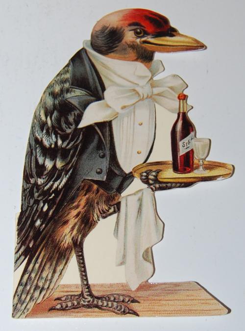 Notecard bird waiter