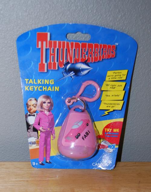 Thunderbirds talking keychain