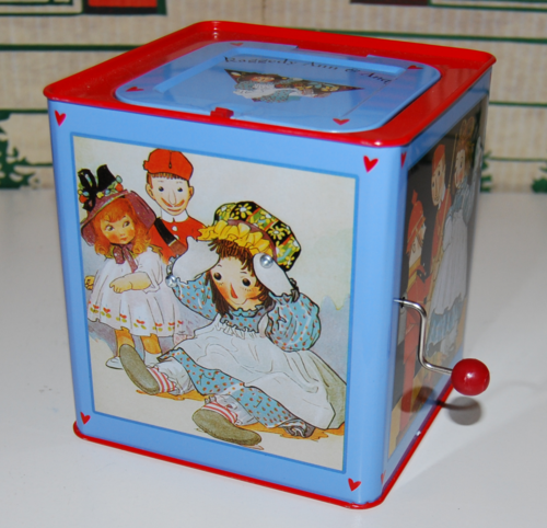 Schylling tin musical raggedy ann in the box 2