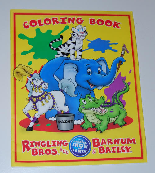 Ringling bros circus coloring book