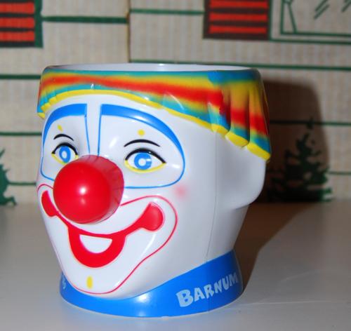 Barnum circus clown cup