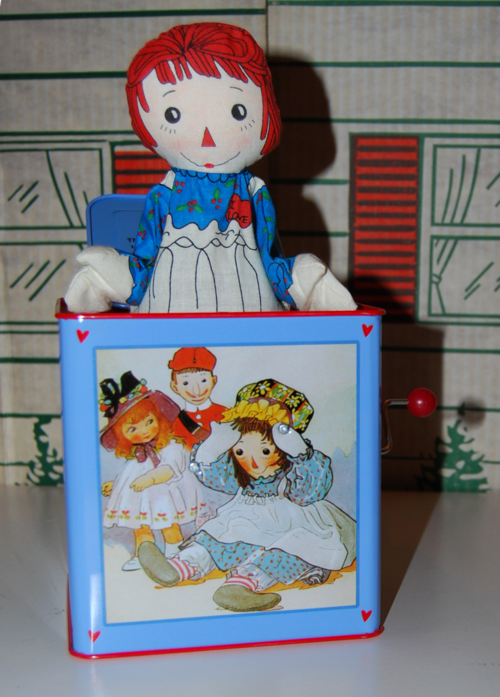 Schylling tin musical raggedy ann in the box 4
