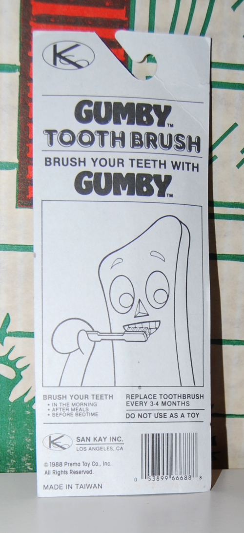 Gumby toothbrush 2