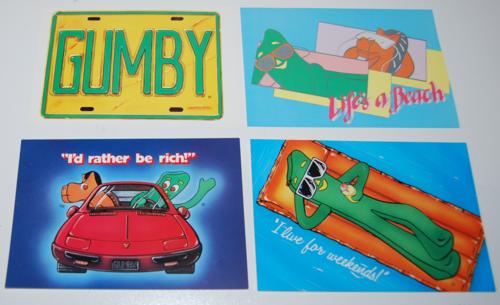 Gumby postcards