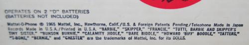 Mattel o phone box 1965 5
