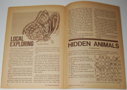 Golden magazine august september 1970 exploring
