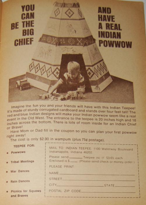 Golden magazine august september 1970 teepee