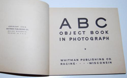Vintage abc photo book 1