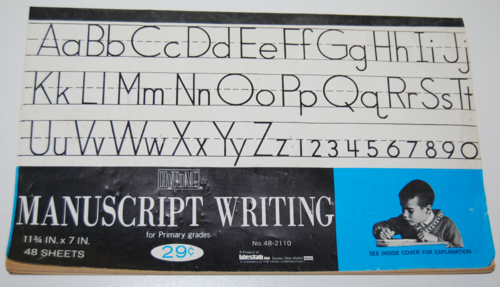 Vintage manuscript writing tablet