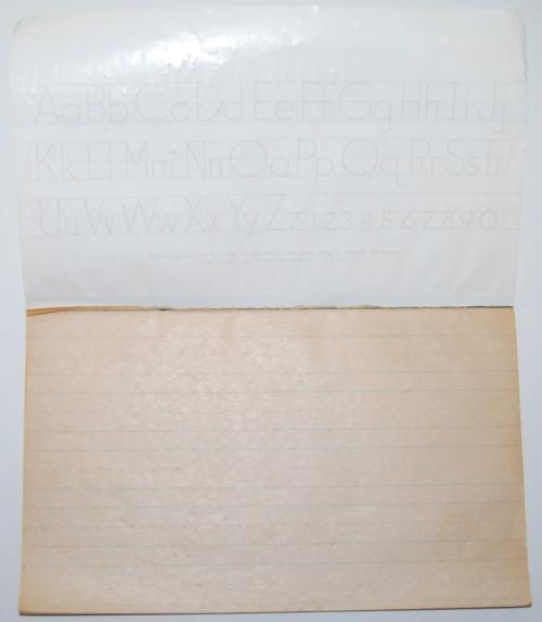 Vintage manuscript writing tablet x