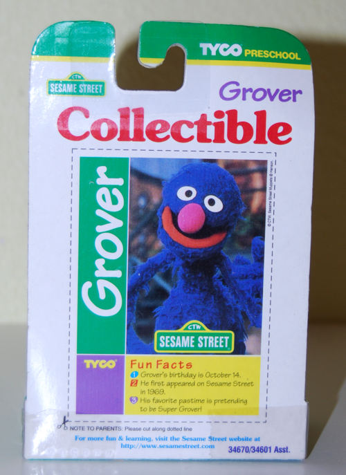 Tyco collectible figure grover x